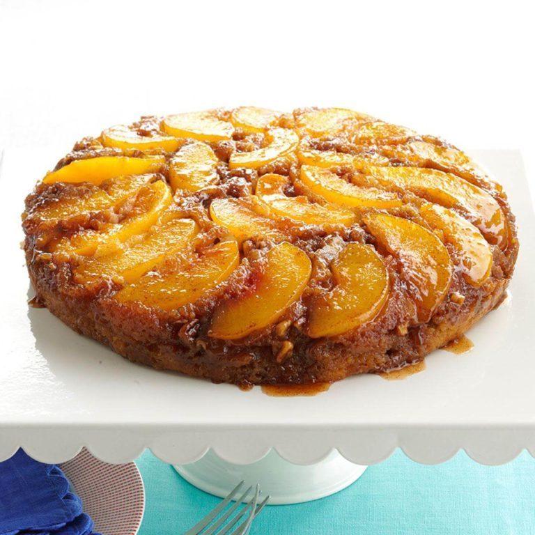 Gebratene Pfirsich-Pralinenkuchen