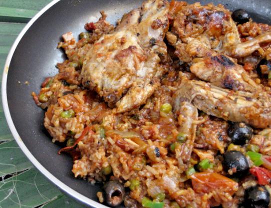 Asopao de pollo - karibisches Huhn und Reis